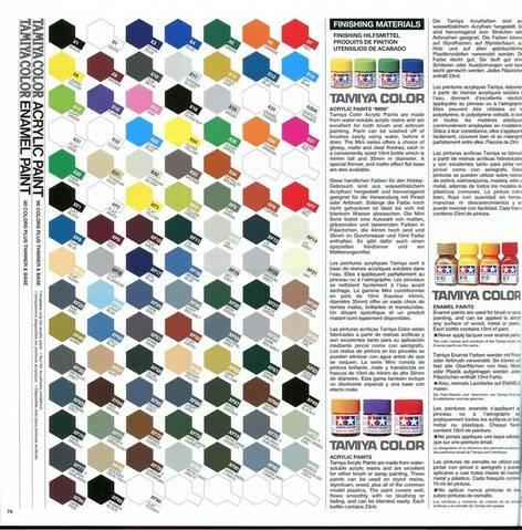 Tamiya 1999 Depliant Nuancier Imprime Accessoires 1999