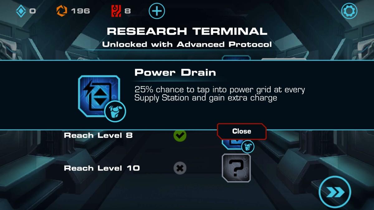 vector 2 power drain