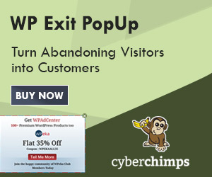 WP Exit PopUp Plugin 300X250