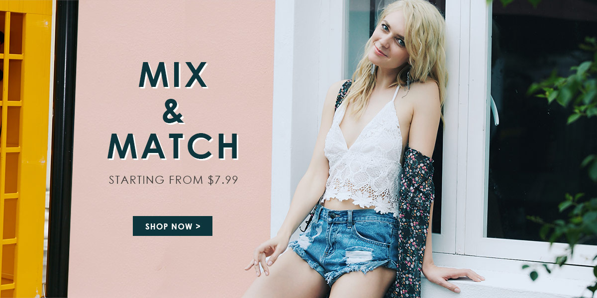 Starting from $7.99 for Mix & Match Sale at Zaful.com! Ends: June.30, 2017