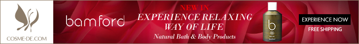 Bamford. New In. Experience Relaxing Way of Life. Natural Bath & Body Products. Experience Now.