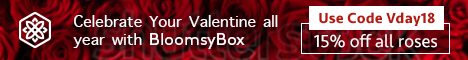 BloomsyBox Valentines Roses, Monthly Deliveries, Celebrate all Year