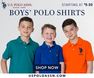 Boys' Polo Shirts Starting at $9.99