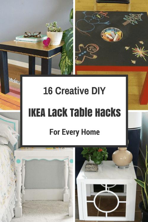 16 creative diy ikea lack table hacks