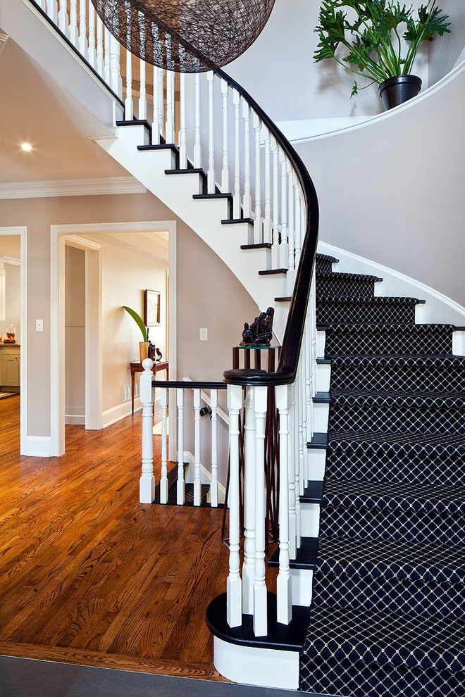 43 Cool Carpet Runners For Stairs To Make Your Life Safer   Patterned Carpet For Stairs And Landing   Carpeting   Middle Open Concept   Diamond Uk Pattern   Striped Stair Carpet Entrance   Victorian Style