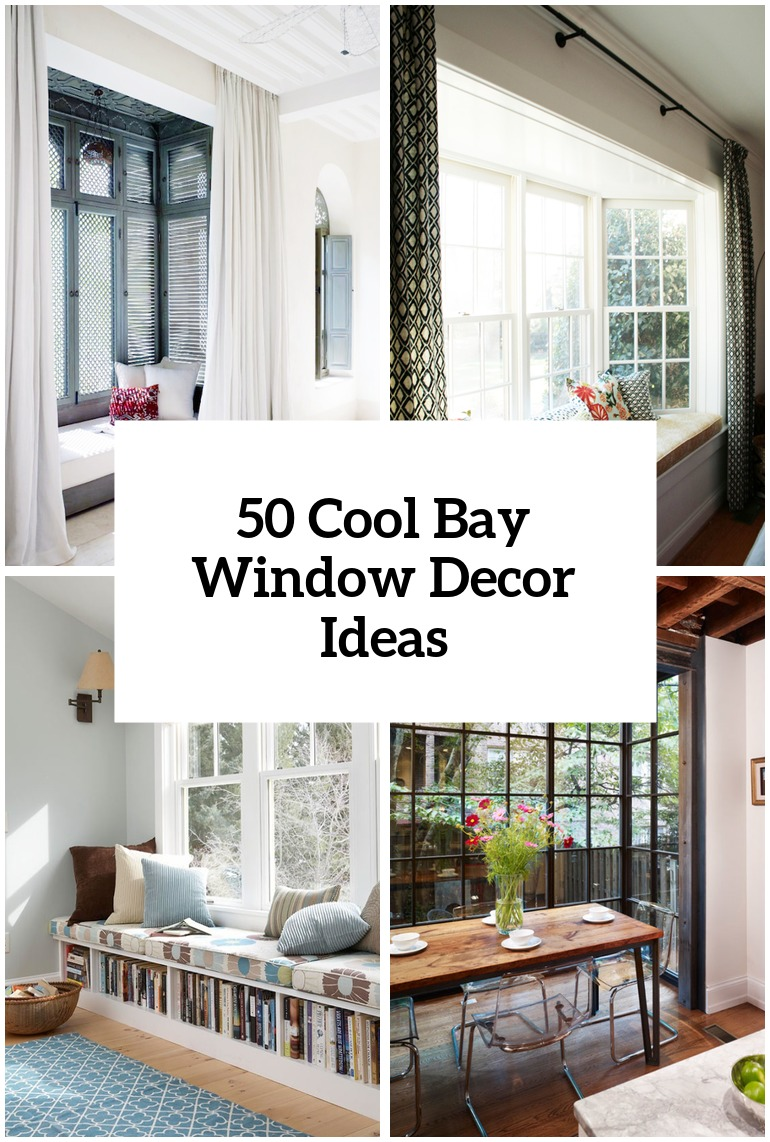 50 Cool Bay Window Decorating Ideas   Shelterness 50 Cool Bay Window Decorating Ideas