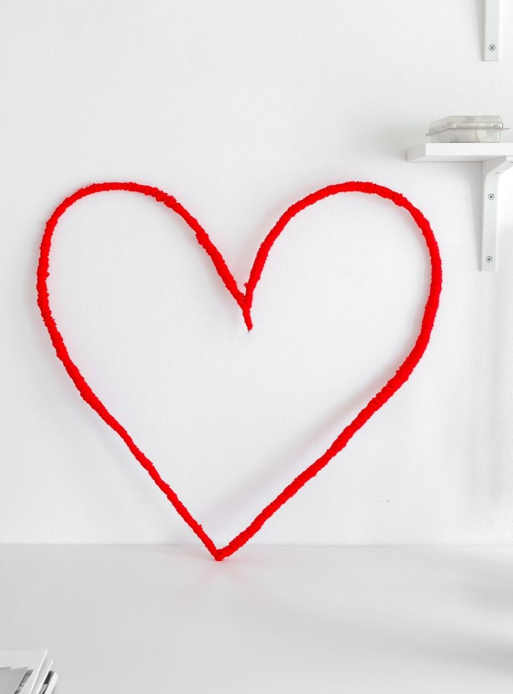 DIY String Heart Wall Art For Valentines Day Shelterness