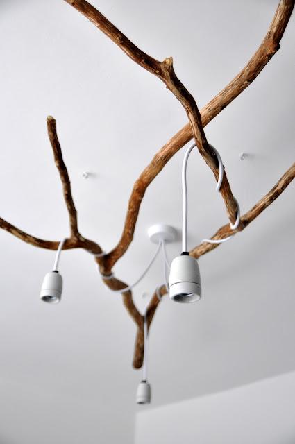 Nature Inspired Diy Tree Branch Chandelier Shelterness