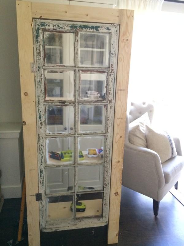 Vintage Inspired DIY Old Window Floor Cabinet Shelterness
