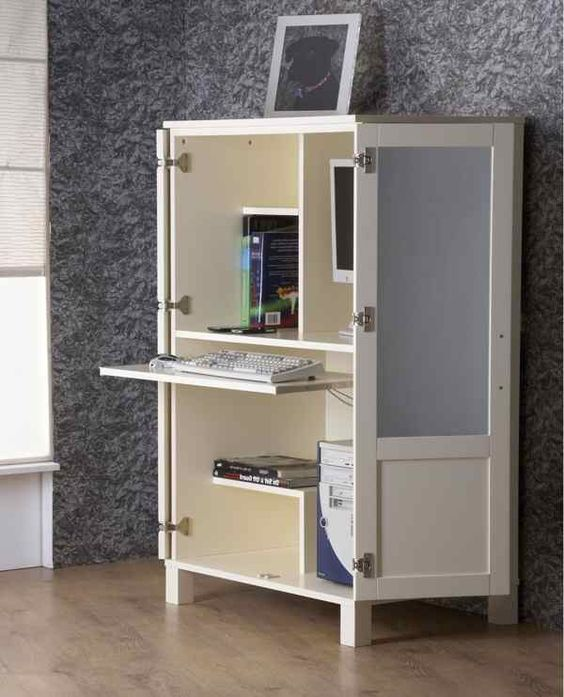 Computer Desk Armoire Cabinet