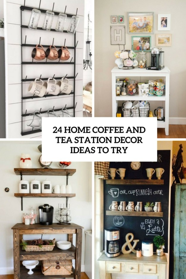 24 home coffee and tea station décor ideas to try - shelterness