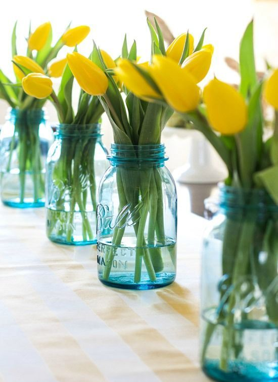 19 Quick And Sweet Easter Mason Jar Centerpieces Shelterness