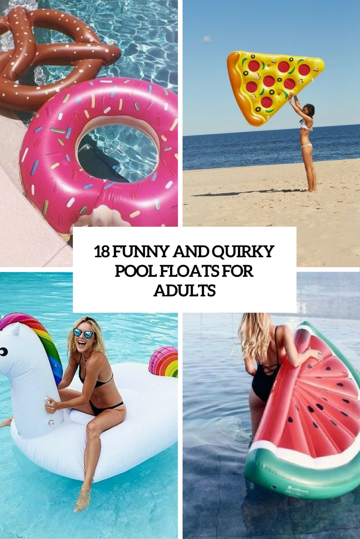 funny and quirky pool floats for adults cover