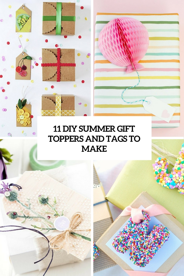 diy summer gift toppers and tags to make cover