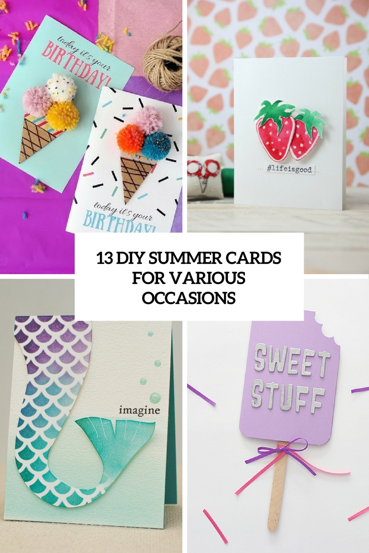 diy summer cards for various occasions cover