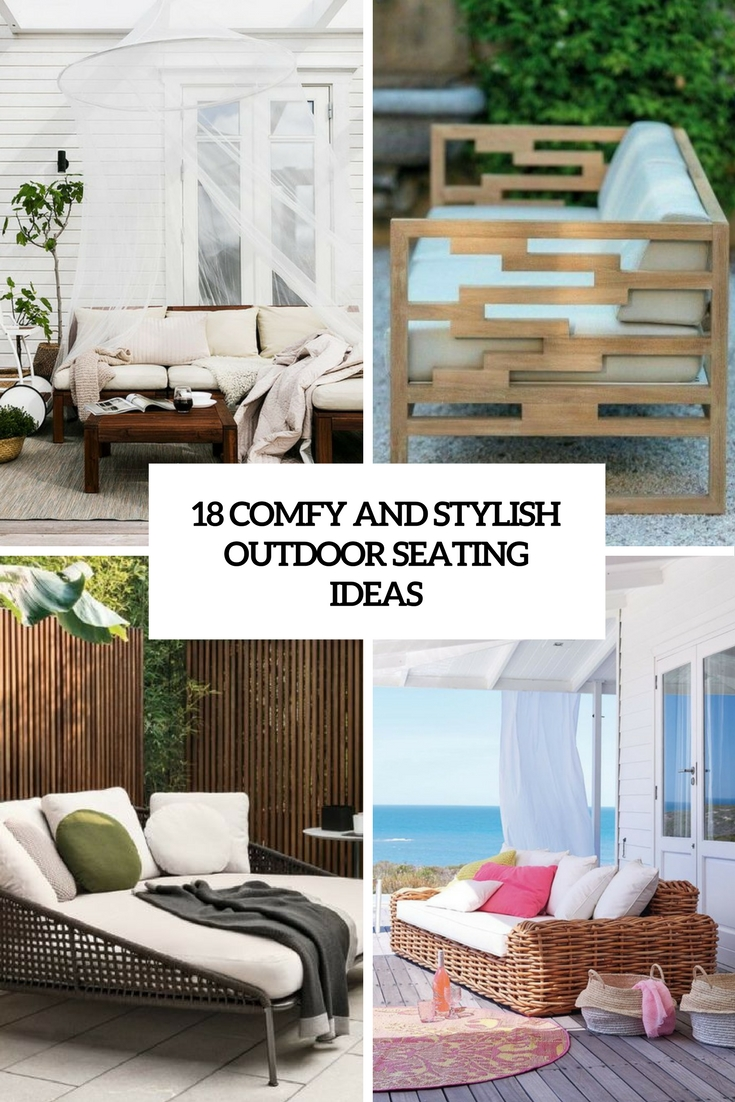 comfy and stylish outdoor seating ideas cover