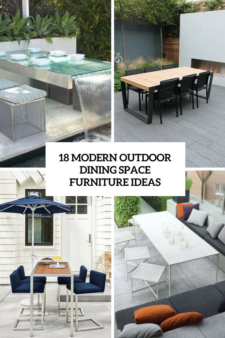 modern outdoor dining space furniture ideas cover