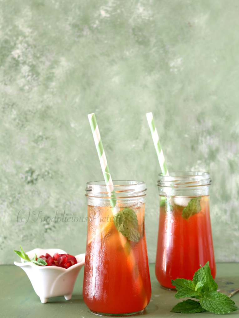 DIY iced pomegranate tea (via https:)