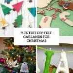 9 Cutest Diy Felt Garlands For Christmas Shelterness