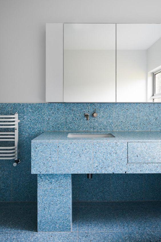 Blue And Grey Bathroom Decor