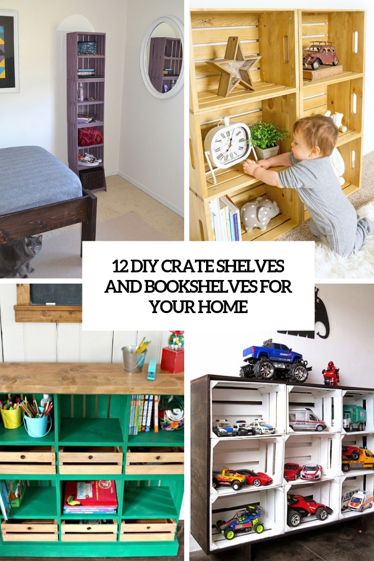 12 Diy Crate Shelves And Bookshelves For Your Home Shelterness