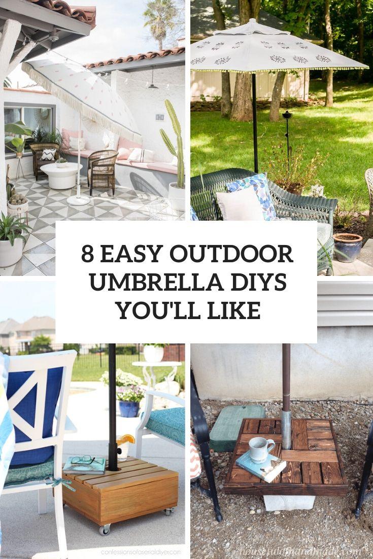 8 easy outdoor umbrella diys you ll