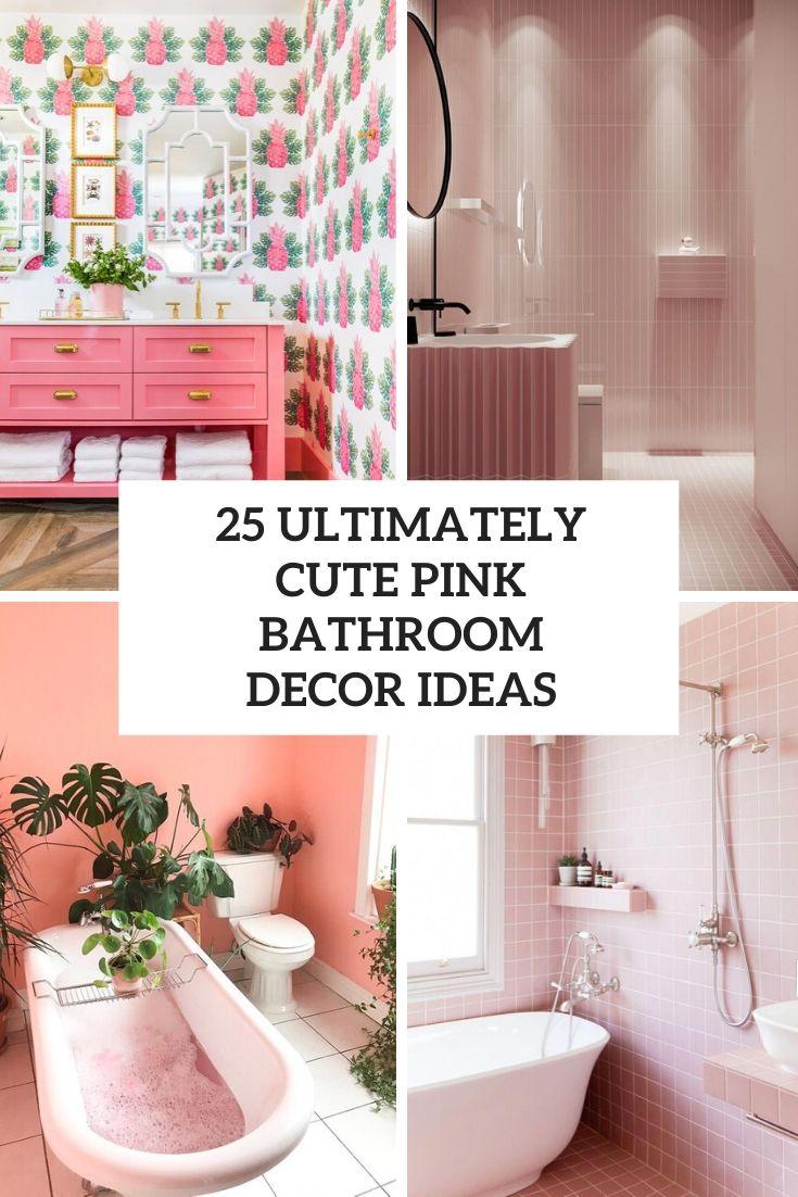 cute pink bathroom decor ideas