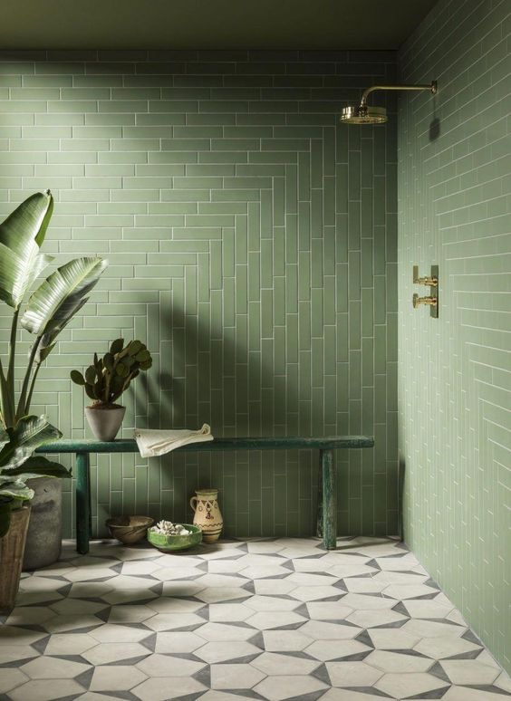 25 dreamy green bathrooms that inspire