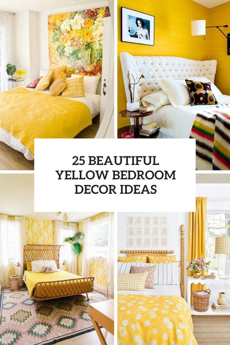 25 Beautiful Yellow Bedroom Decor Ideas Shelterness