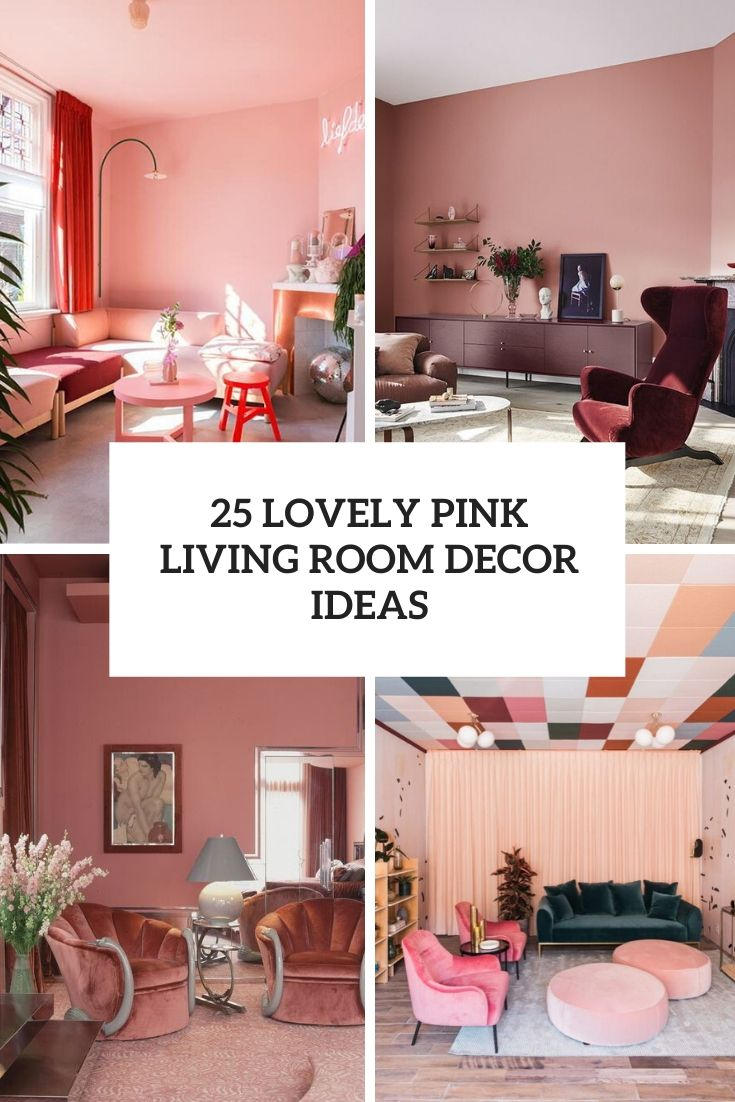 25 Lovely Pink Living Room Decor Ideas Shelterness