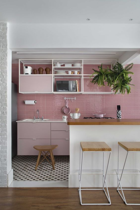 25 pink kitchens that are totally