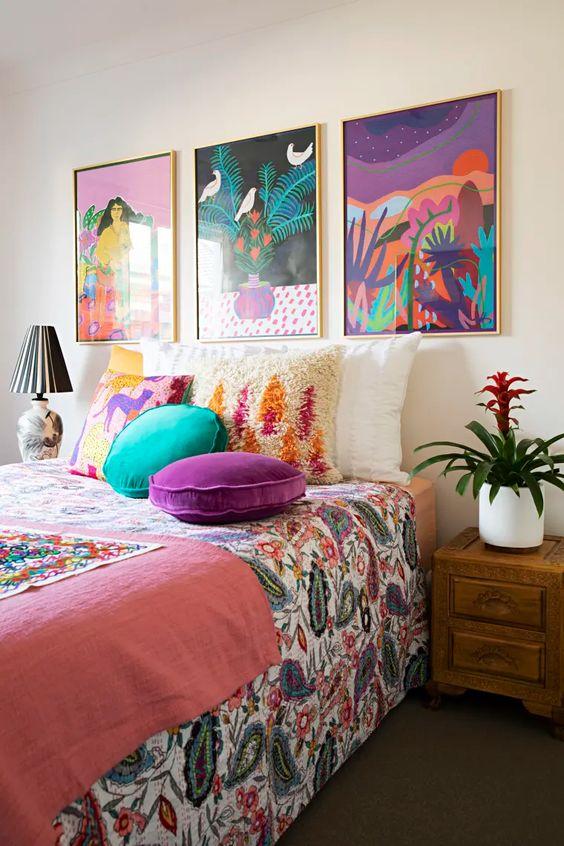 colorful bedroom decor ideas