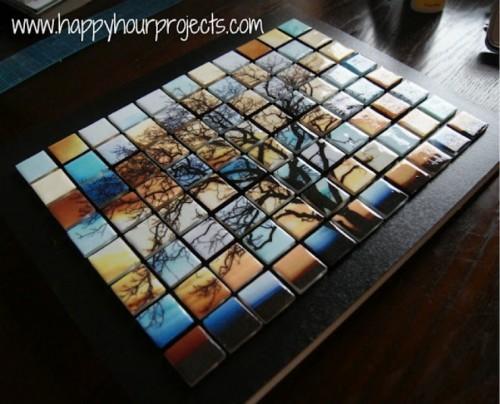 Beautiful Diy Glass Tile Tree Mosaic Shelterness