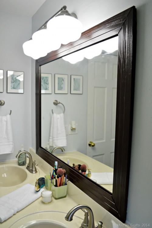 Framed Bathroom Mirror Via Shelterness