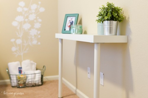 Diy Ikea Hack Narrow Console Table Shelterness