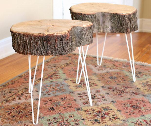 Tree Stump End Tables Natural Tree Stump Side Table West Elm