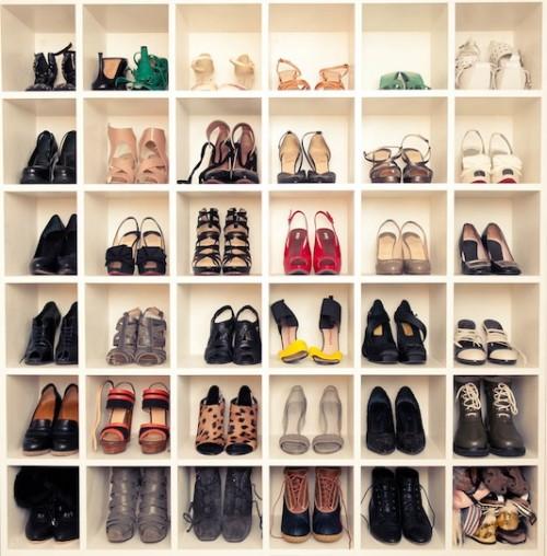 diy shoe storage wall shelterness