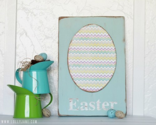 10 Easy DIY Easter Signs In Different Styles And Colors