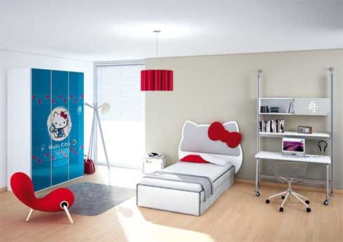 Hello Kitty Themed Kids Bedrooms Shelterness