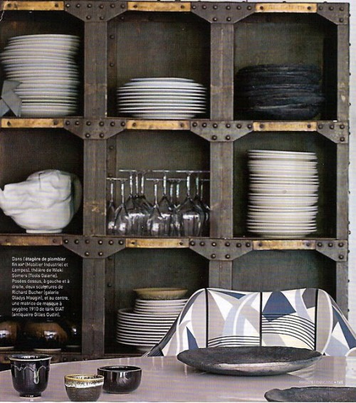 Rough metal shelving system looks quite industrial