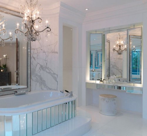 20 Bathrooms With Mirrors Above Bathtubs Shelterness