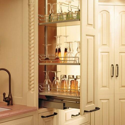 small narrow kitchen sliding storage organizer pull out rack under cabinet new kitchen dining bar selfiestar home garden
