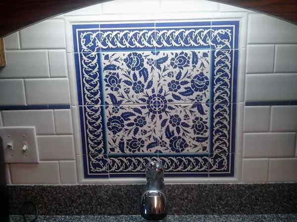 blue white floral ceramic tiles