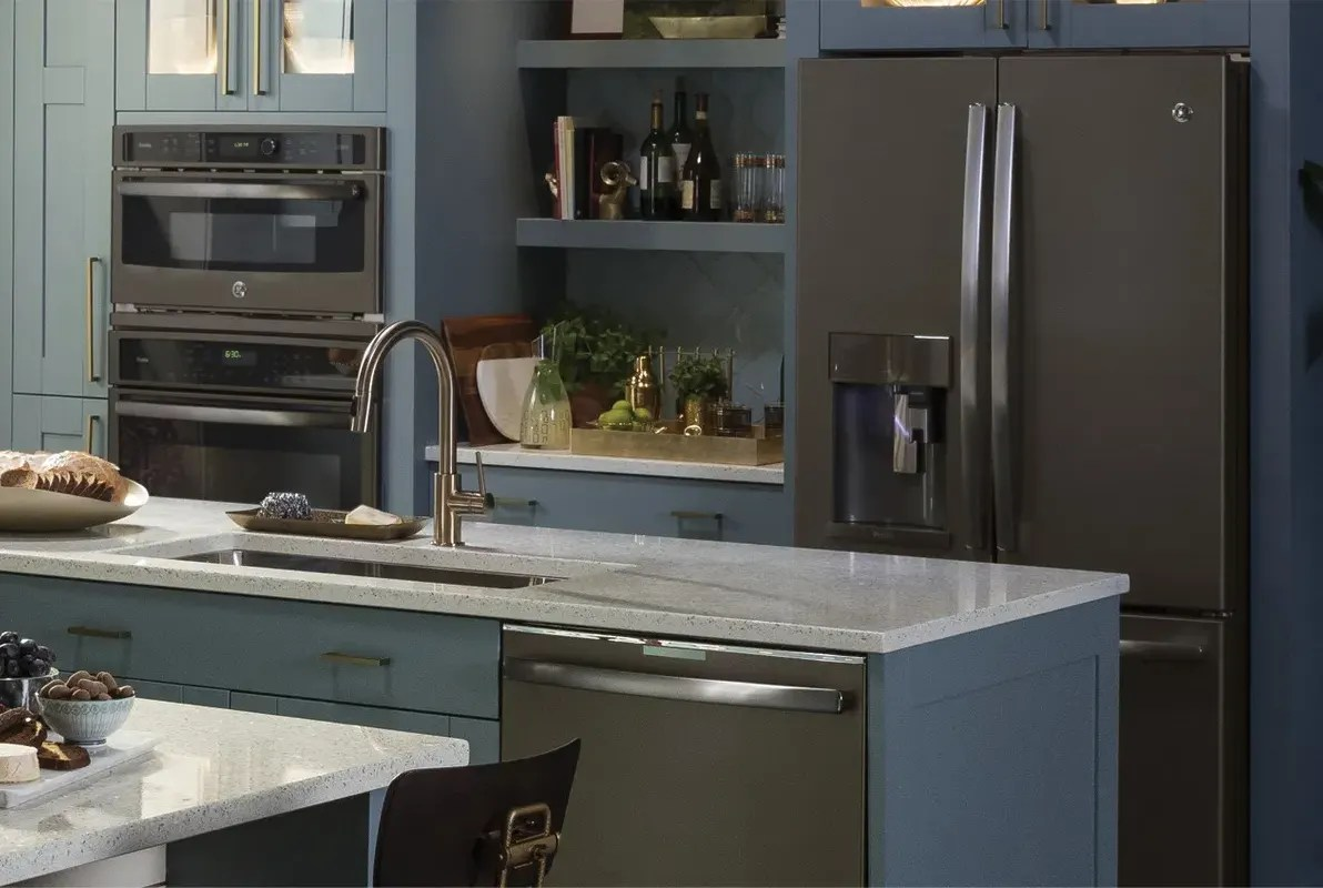 gorgeous smudge proof slate appliances