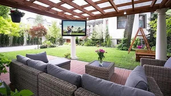 weatherproof outdoor tv enclosure