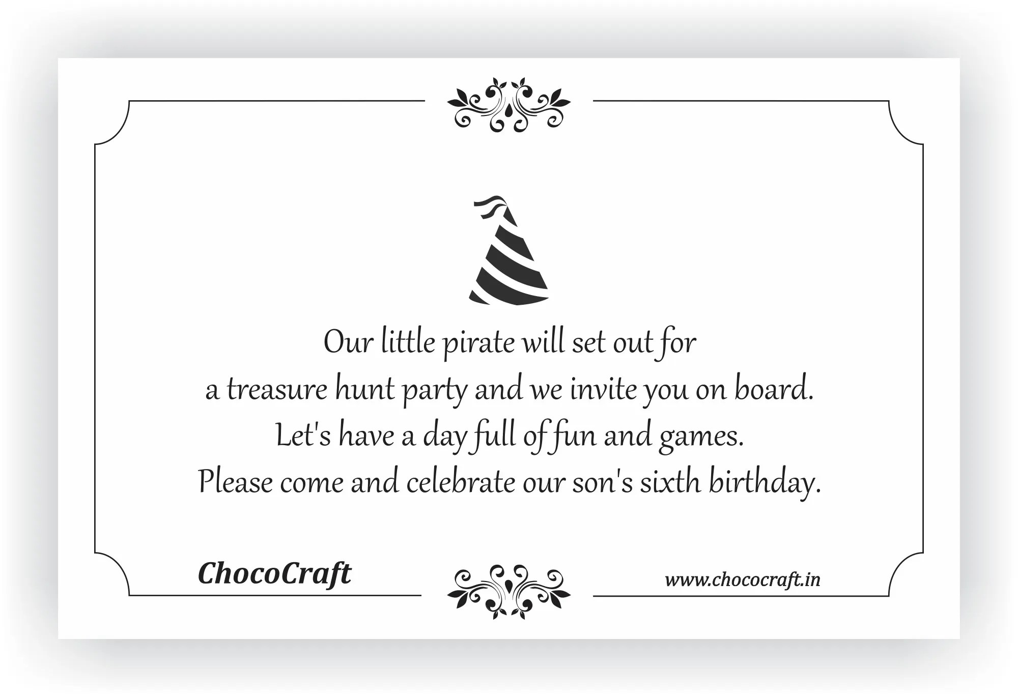 birthday party invite messages kids