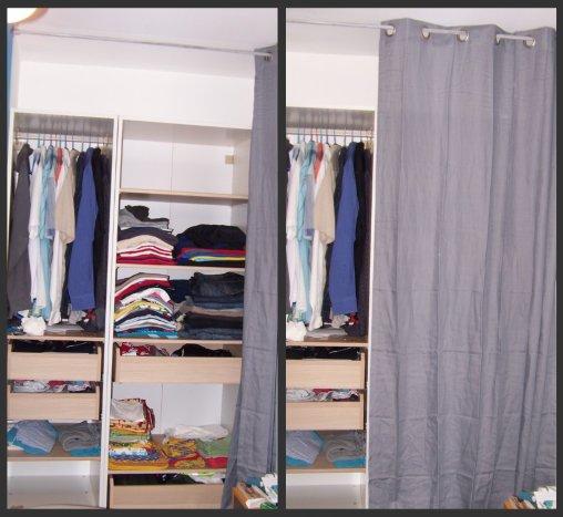 rideau pour armoire chambre bright