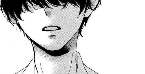 image manga garcon en noir et blanc