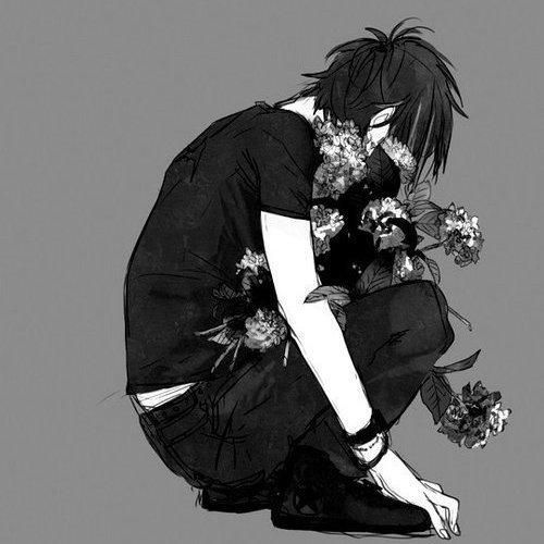 image manga garcon noir et blanc 16