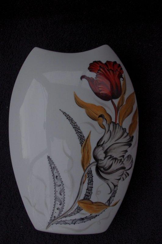 Vase Aux Tulipes Modernises Lart De La Peinture Sur